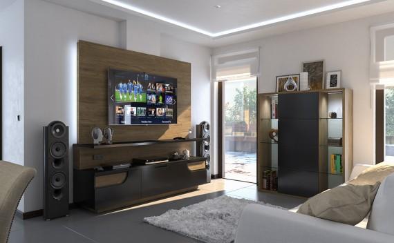 Mueble TV y Vitrina a Medida