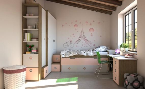 Dormitorio Juvenil Con Armario A Medida