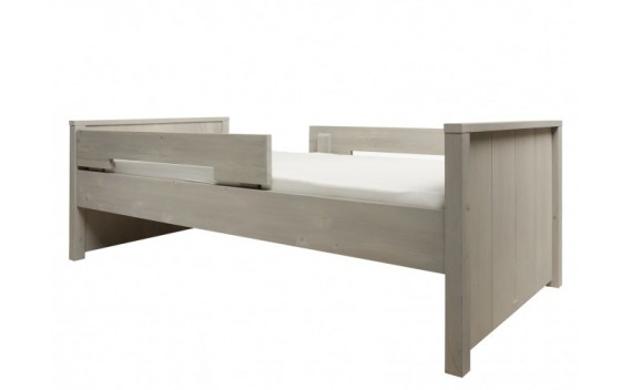 CAMA 90X200 BASIC WOOD GRAVEL WASH (INCLUYE DOS LARGUEROS)