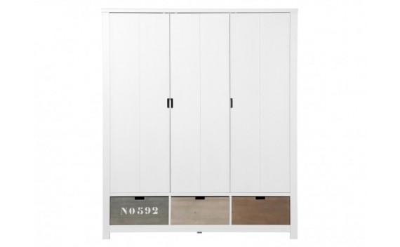 Armario de 3-Puertas Basic Wood White Wash