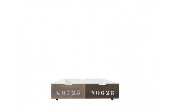 Cajón 90x100 Basic Wood Panel Stone/Brown Wash