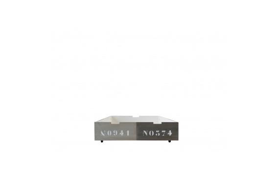 Cajón 90x100 Basic Wood Panel Natural/Grey Wash