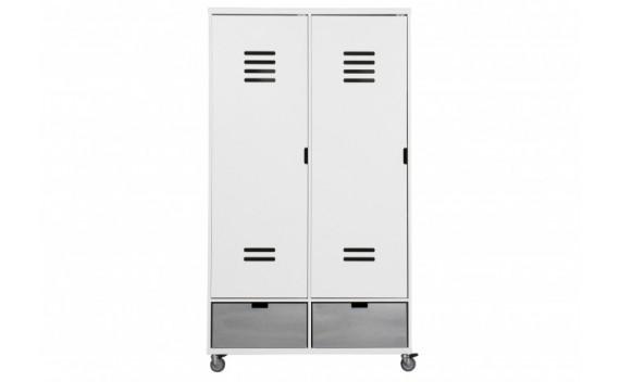 Armario de 2-Puertas Locker Con Ruedas Mix & Match Blanco