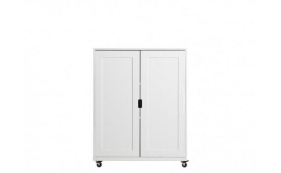 Modulo Mediano de 2-Puertas con Ruedas Mix & Match Blanco
