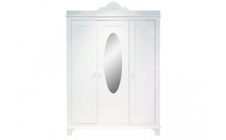 Armario de 3-Puertas XL Romantic Blanco