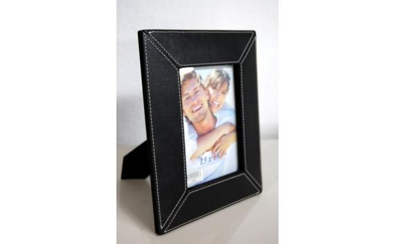 Porta-foto Negro Polipiel 13x18cm