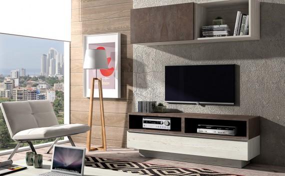 Mesa Fenix Plus TV Rustic y Piedra