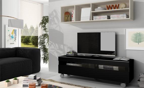 Mesa Fenix Plus TV Negro y Glaciar