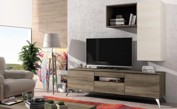 Mesa Fenix Plus TV Ébano y Glaciar
