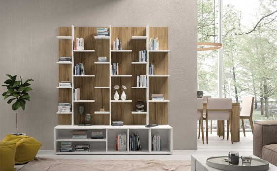 Librería Fenix Gold Nature y Mármol Estantes