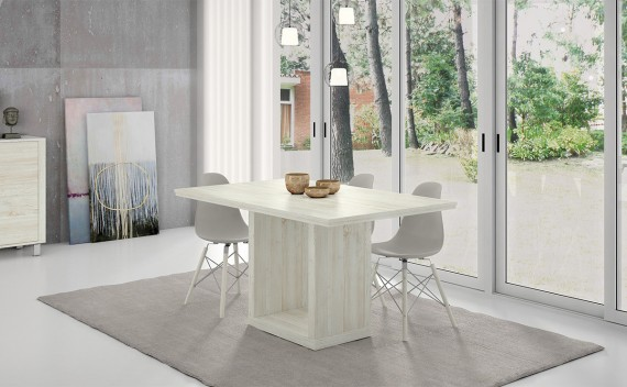 Mesa Fenix Comedor Pie Central Extensible
