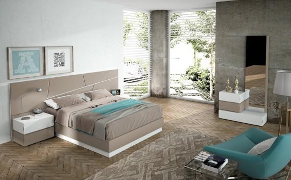 Dormitorio Olimpo Zeus Blanco y Visón