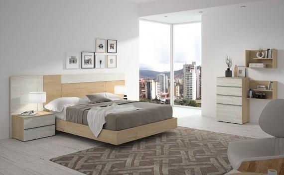 Dormitorio Olimpo Apolo Roble y Rustic
