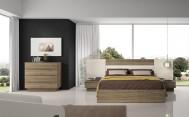 Dormitorio Olimpo Circe con Canapé Ébano y Glaciar