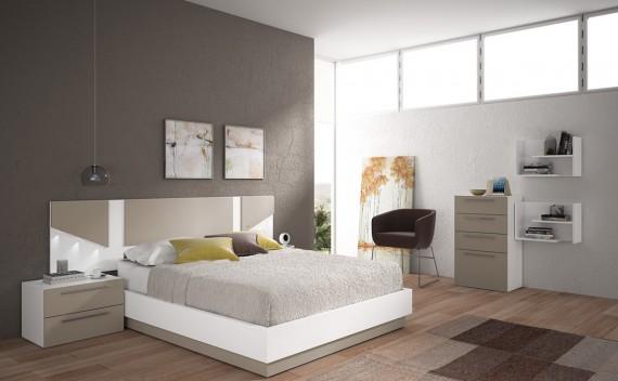 Dormitorio Olimpo Leto Blanco y Visón