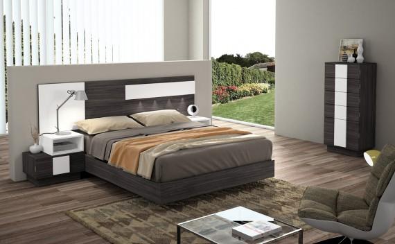 Dormitorio Olimpo Iris Marengo y Blanco