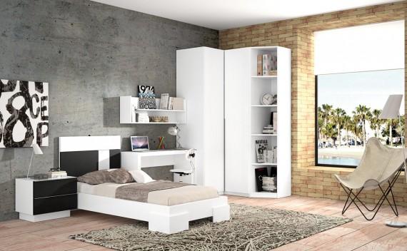 Dormitorio Olimpo Morfeo Blanco y Negro