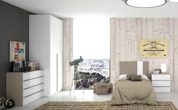 Dormitorio Olimpo Musas Blanco y Visón