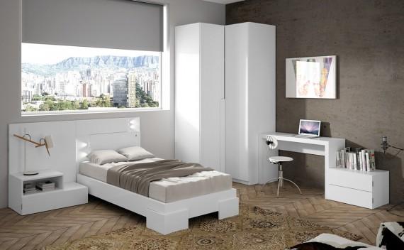 Dormitorio Olimpo Tritón Blanco