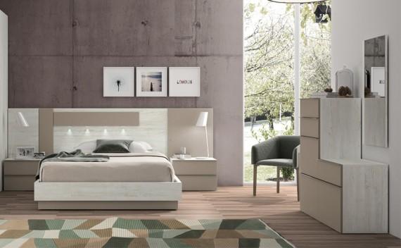 Dormitorio Olimpo Venus Rustic y Visón