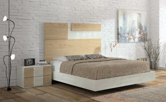 Dormitorio Olimpo Nike Rustic y Roble