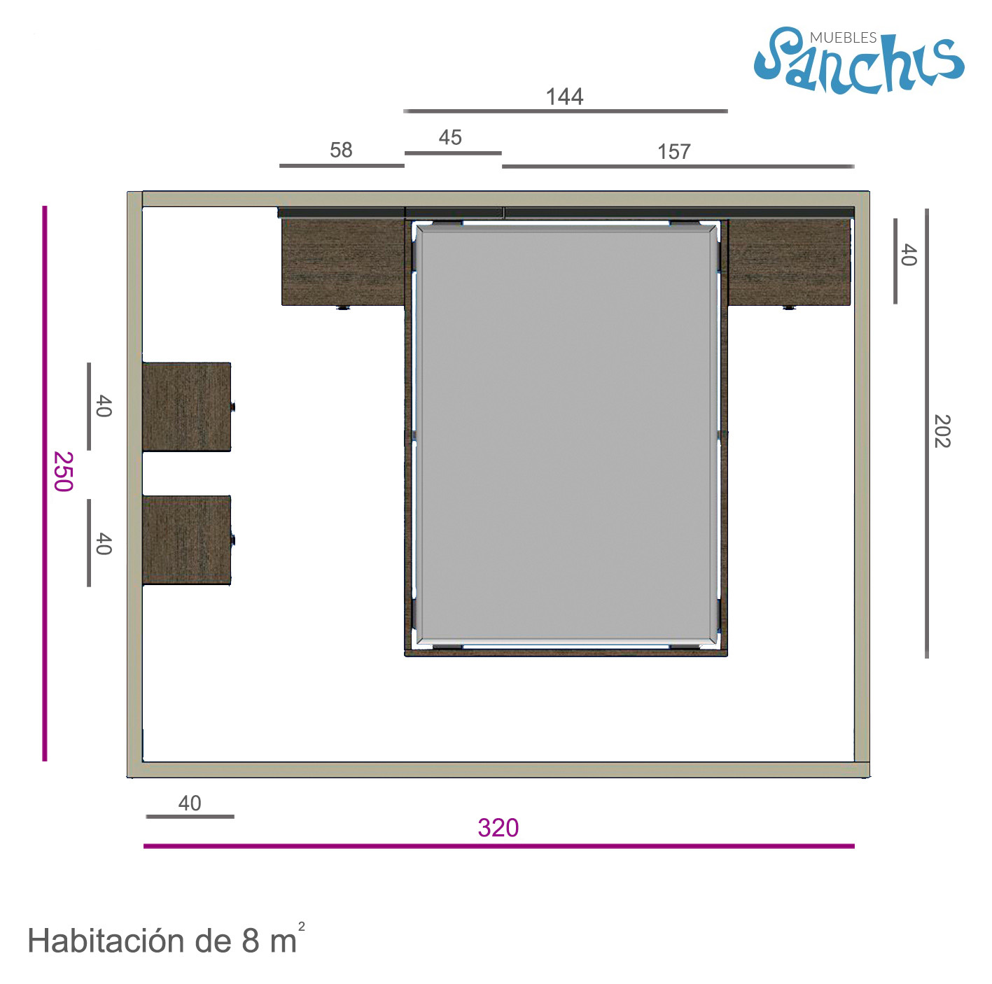 Layout Actual Dormitorio A Medida